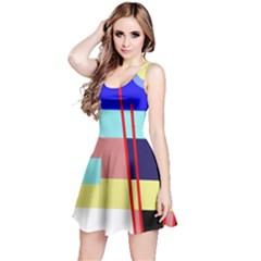 Abstract landscape Reversible Sleeveless Dress