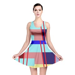 Abstract landscape Reversible Skater Dress