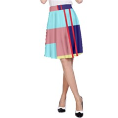 Abstract landscape A-Line Skirt
