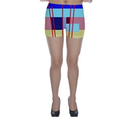 Abstract landscape Skinny Shorts