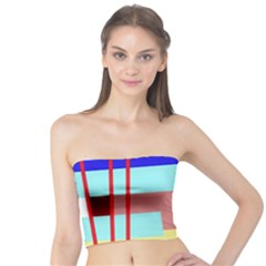 Abstract landscape Tube Top