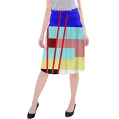 Abstract Landscape Midi Beach Skirt