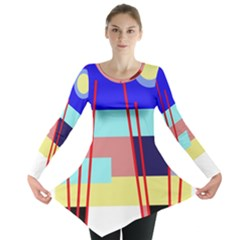 Abstract landscape Long Sleeve Tunic