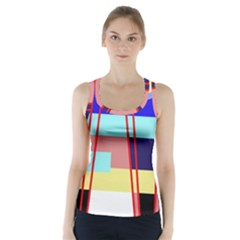 Abstract landscape Racer Back Sports Top