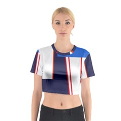 Decorative abstraction Cotton Crop Top