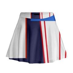Decorative abstraction Mini Flare Skirt
