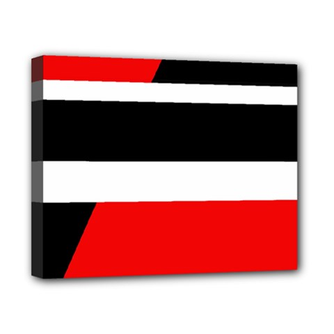 Red, white and black abstraction Canvas 10  x 8