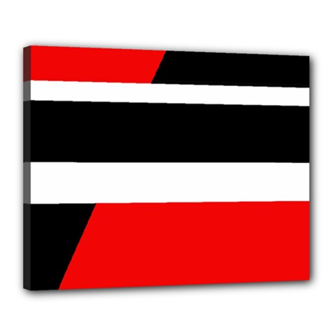 Red, white and black abstraction Canvas 20  x 16