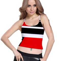 Red, white and black abstraction Spaghetti Strap Bra Top