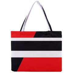 Red, white and black abstraction Mini Tote Bag