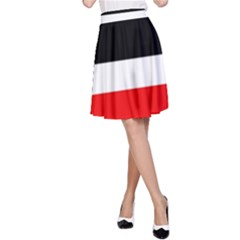 Red, white and black abstraction A-Line Skirt