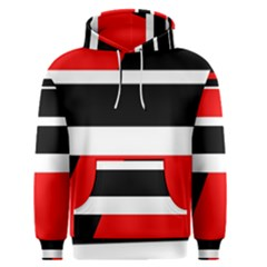 Red, white and black abstraction Men s Pullover Hoodie