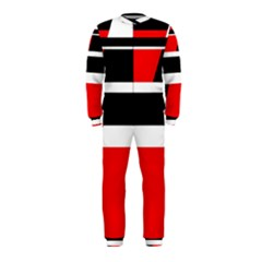 Red, white and black abstraction OnePiece Jumpsuit (Kids)