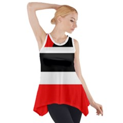 Red, white and black abstraction Side Drop Tank Tunic
