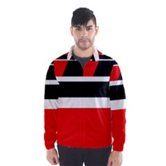 Red, white and black abstraction Wind Breaker (Men)