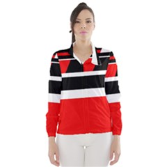 Red, white and black abstraction Wind Breaker (Women)