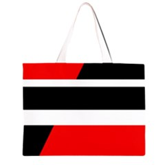 Red, white and black abstraction Large Tote Bag