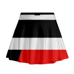 Red, white and black abstraction Mini Flare Skirt