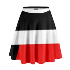 Red, white and black abstraction High Waist Skirt