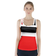 Red, white and black abstraction Racer Back Sports Top