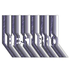 Elegant lines BEST BRO 3D Greeting Card (8x4)