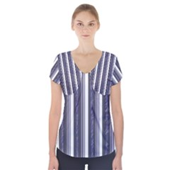 Elegant Lines Short Sleeve Front Detail Top