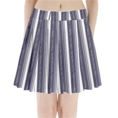 Elegant Lines Pleated Mini Mesh Skirt