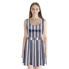 Elegant lines Split Back Mini Dress