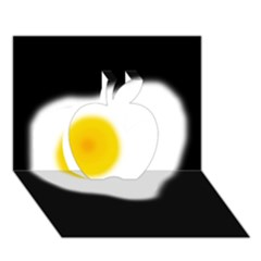 Egg Apple 3D Greeting Card (7x5)