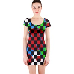 colorful abstraction Short Sleeve Bodycon Dress