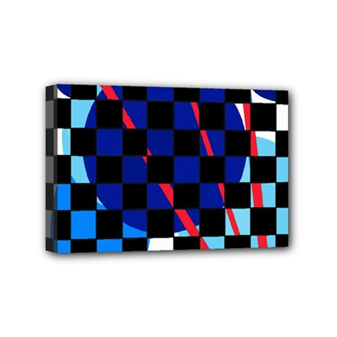 Blue abstraction Mini Canvas 6  x 4