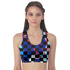 Blue abstraction Sports Bra