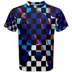 Blue abstraction Men s Cotton Tee
