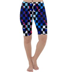 Blue abstraction Cropped Leggings