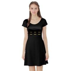 Elegant design Short Sleeve Skater Dress