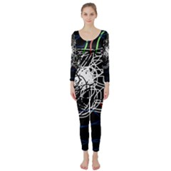 Neon fish Long Sleeve Catsuit