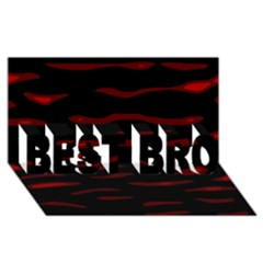 Red and black BEST BRO 3D Greeting Card (8x4)