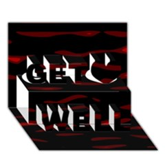 Red and black Get Well 3D Greeting Card (7x5)