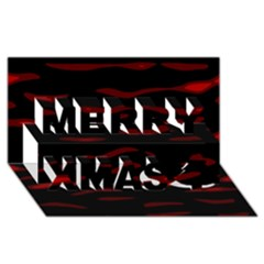 Red and black Merry Xmas 3D Greeting Card (8x4)