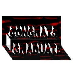 Red and black Congrats Graduate 3D Greeting Card (8x4)