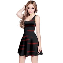 Red and black Reversible Sleeveless Dress