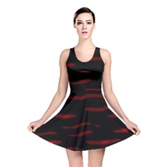 Red and black Reversible Skater Dress