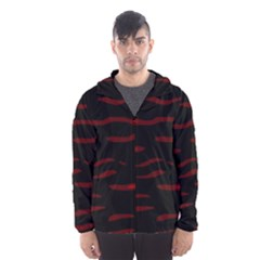Red and black Hooded Wind Breaker (Men)