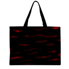 Red and black Zipper Mini Tote Bag