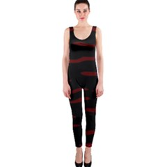Red and black OnePiece Catsuit