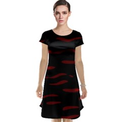 Red and black Cap Sleeve Nightdress
