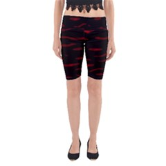 Red and black Yoga Cropped Leggings