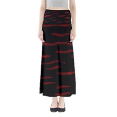 Red and black Maxi Skirts