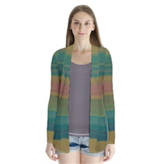 Watercolors   Drape Collar Cardigan