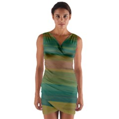 Watercolors                       Wrap Front Bodycon Dress